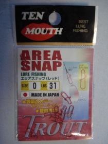 Ten Mouth Area Snap Trouth - карабинка size 0 - 31lbs